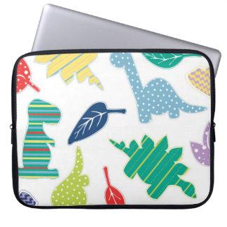 Dinomite! Cute Colorful Dinosaur Pattern Computer Sleeves