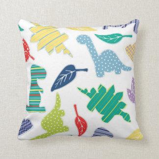 Dinomite! Cute Colorful Dinosaur Pattern Cushions
