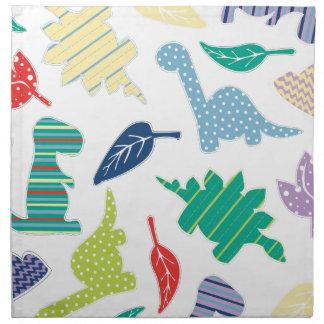 Dinomite! Cute Colorful Dinosaur Pattern Printed Napkins