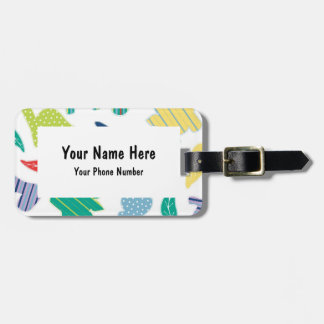 Dinomite! Cute Colorful Dinosaur Pattern Tags For Bags