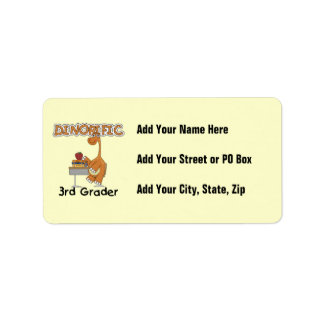 Dinorific 3rd Grader T-shirts and Gifts Address Label