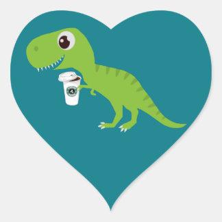 Dino's love lattes heart sticker
