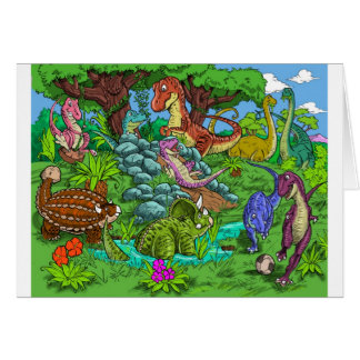 dinos_playing card