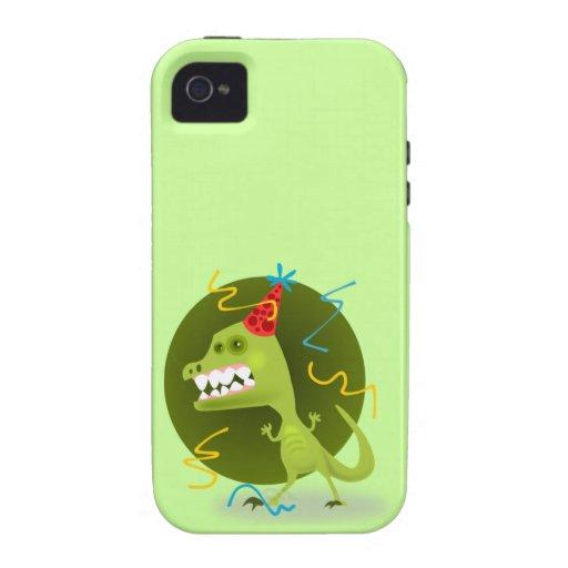 Dino's Rock - Dinosaur Birthday Party iPhone 4/4S Cases