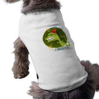 Dino's Rock - Dinosaur Birthday Party Dog Tshirt