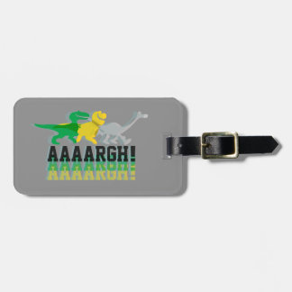 Dinos Say AAAARGH Luggage Tag