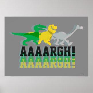Dinos Say AAAARGH Poster