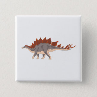 Dinosaur 15 Cm Square Badge