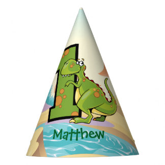 Dinosaur 1st Birthday Party Custom Party Hat