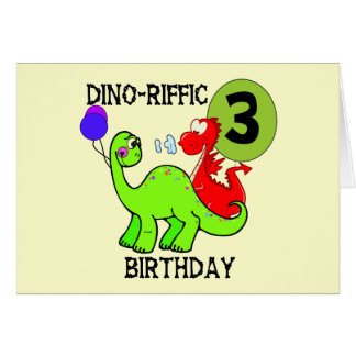 Dinosaur 3rd Birthday Tshirts and Gifts Card