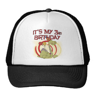 Dinosaur 3rd Birthday Tshirts and Gifts Mesh Hat