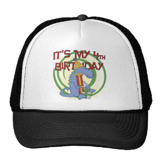 Dinosaur 4th Birthday T-shirts and Gifts Cap