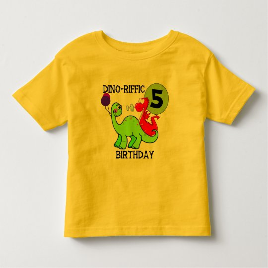 Dinosaur 5th Birthday T-shirts and Gifts