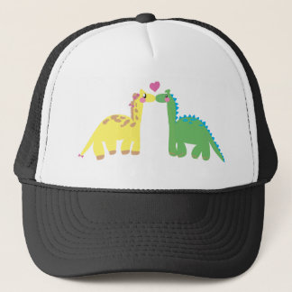 DINOsaur and a GIRAFFE Trucker Hat