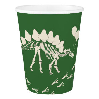 Dinosaur and Party Balloons Paper Cup