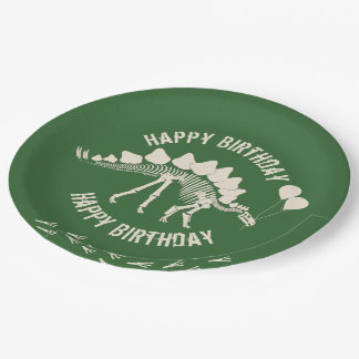 Dinosaur and Party Balloons Paper Plate