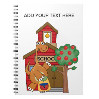 Dinosaur at School t-shirts and Gifts Notebooks