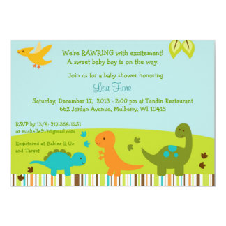 Dinosaur Baby Shower Card