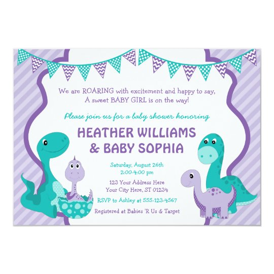 Dinosaur Baby Shower Invitation with Envelopes