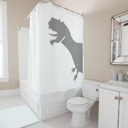 novelty shower curtains. Dinosaur Behind The Curtain Novelty Shower Curtains R