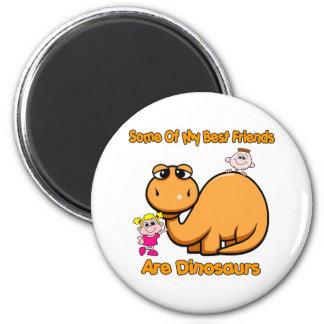Dinosaur Best Friends 6 Cm Round Magnet