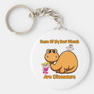 Dinosaur Best Friends Basic Round Button Key Ring