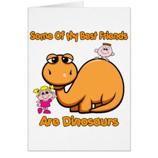 Dinosaur Best Friends Greeting Card