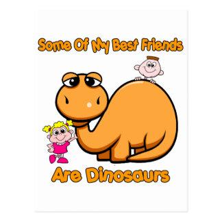 Dinosaur Best Friends Postcard