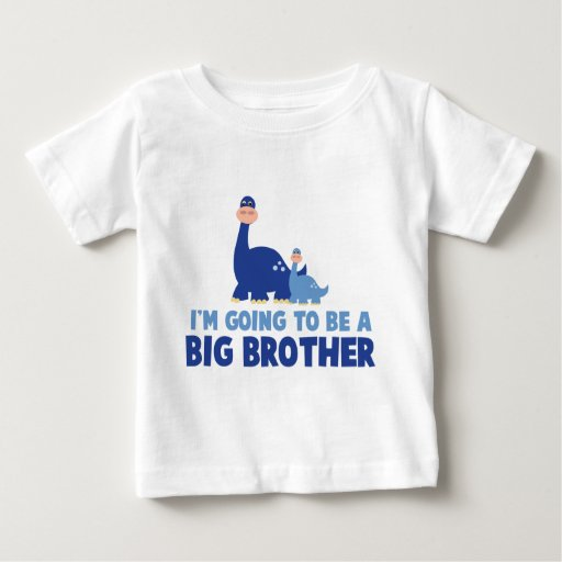 Image of dinosaur big brother to be NEW blue Baby T-shirt