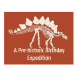Dinosaur Birthday Adventure Post Card