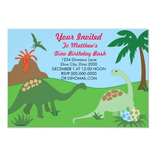 Dinosaur Birthday Bash Invite
