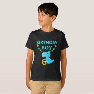 Dinosaur Birthday Boy 6 Trending T-shirt