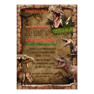 Dinosaur birthday - dinosaur invitations - t rex