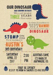 Dinosaur birthday invitations zazzle uk dinosaur birthday invitations filmwisefo