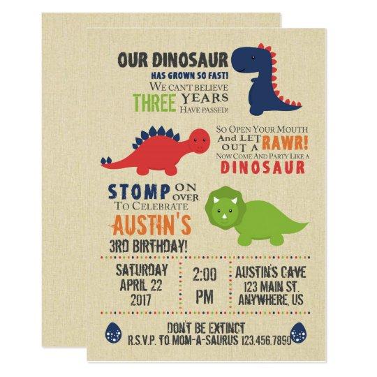 Dinosaur birthday invitations akbaeenw dinosaur birthday invitations filmwisefo