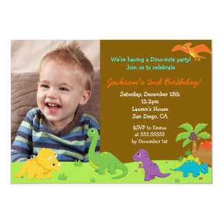 Dinosaur Birthday Party Invitaions 13 Cm X 18 Cm Invitation Card