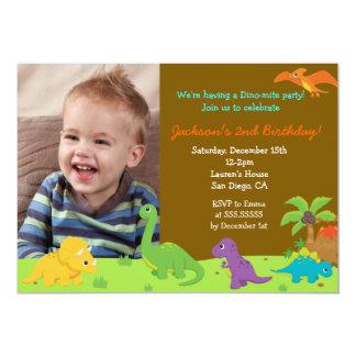 Dinosaur Birthday Party Invitaions 13 Cm X 18 Cm Invitation Card