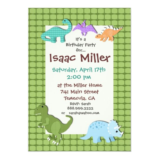 dinosaur birthday party invitation dino invite