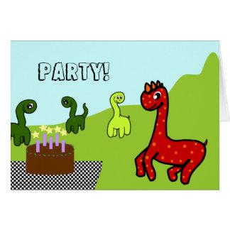Dinosaur Birthday Party Invitation Greeting Card