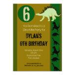 Dinosaur Birthday Party Invitations Earth Tones