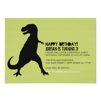 Dinosaur Birthday Party | T-Rex 13 Cm X 18 Cm Invitation Card