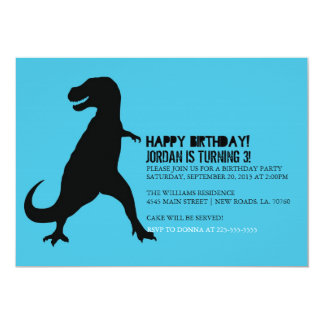 Dinosaur Birthday Party | T-Rex 13 Cm X 18 Cm Invitation Card
