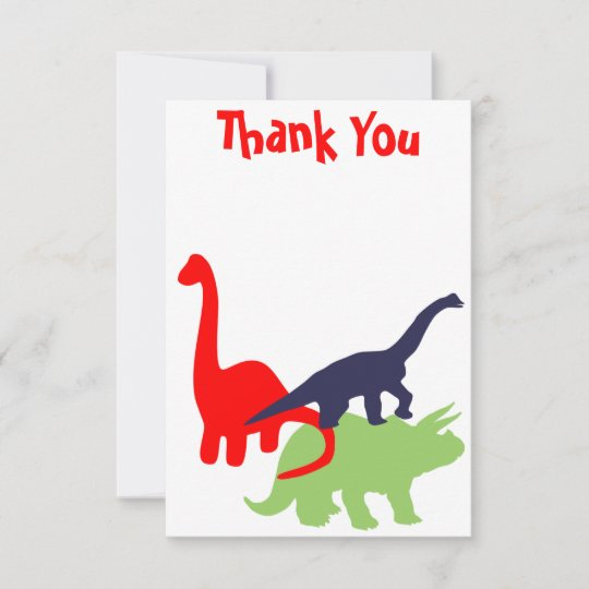 flat thank you card  party animals birthday