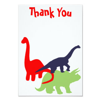 Dinosaur Birthday Party Thank You Flat Cards 9 Cm X 13 Cm Invitation Card