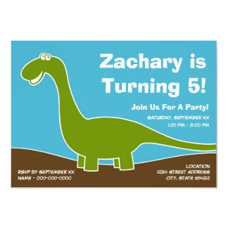 Dinosaur Birthday Party Theme 13 Cm X 18 Cm Invitation Card
