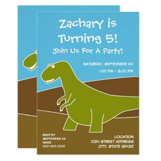 Dinosaur Birthday Party Theme Card