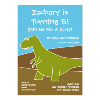 Dinosaur Birthday Party Theme Personalized Invites