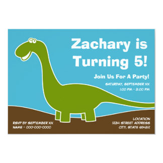Dinosaur Birthday Party Theme Personalized Announcements