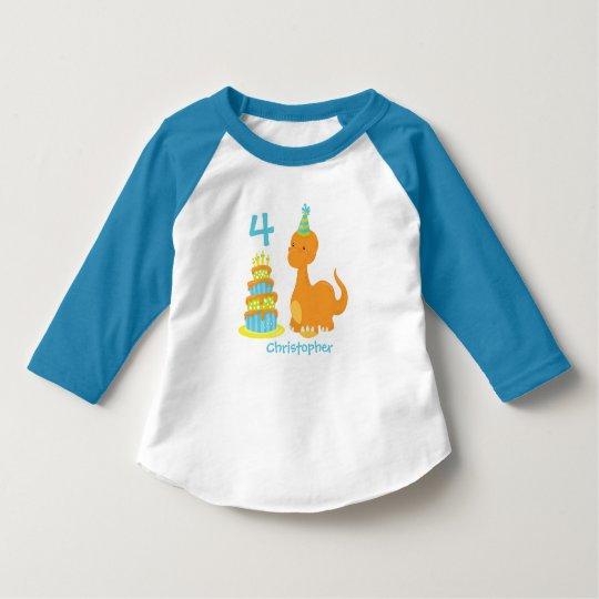 Dinosaur Birthday Personalised Shirt - Dino Bday