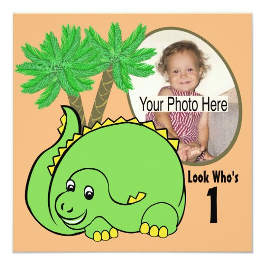 Dinosaur Birthday Photo Card